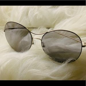 Cute Stylish Woman Sunglasses Aviation Style